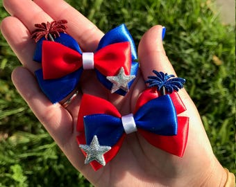 Mini 4th of July Bows