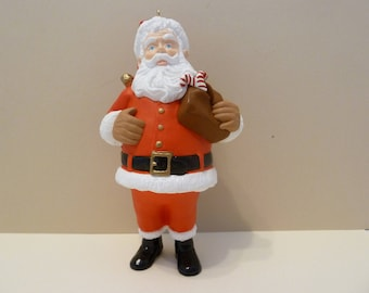 Hallmark Keepsake Christmas Ornament, Collector's Club, Santa w/Pouch