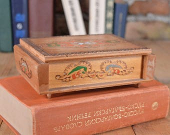 Wooden box - Vintage box - Trinket box - Jewelry box - Wedding box - Handmade box - Keepsake box - Memory Box - Anniversary box - Retro box
