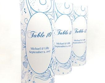 Table Number Ideas - Luminaries - Table Numbers - Wedding Luminary - Script Table Number- Wedding Decor- Wedding Signs- Table Number Wedding