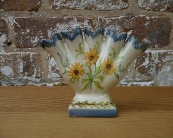 Vintage Portugese 5 Finger Vase