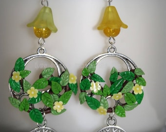 Large tree of life earrings
