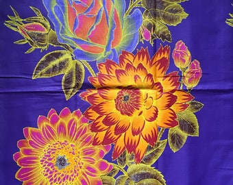 African Print Fabric/Ankara - Purple 5.0 'Epic Blooms' Design, YARD or WHOLESALE