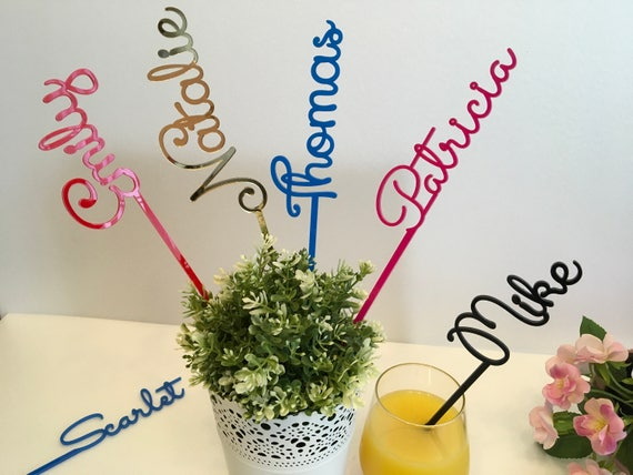 Personalised Wedding Acrylic Drink Stirrers Cocktail accessories Custom Name Stir Swizzle Sticks Bachelorette Tags Bridal Shower Table Party