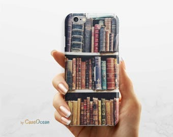 BOOK phone case, iPhone 7 6 6s Plus phone case iPhone SE 5 5s phone case Samsung Galaxy S8 Plus S7 Edge S6 S4 S3 vintage book phone case