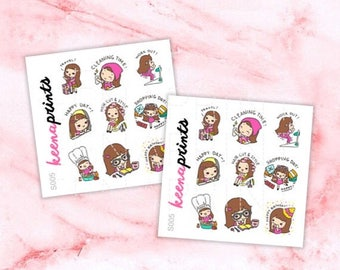 15% OFF S005 | Keenachi A Sampler Stickers Perfect for Erin Condren Life Planner, Filofax, Plum Paper & other planner or scrapbooking