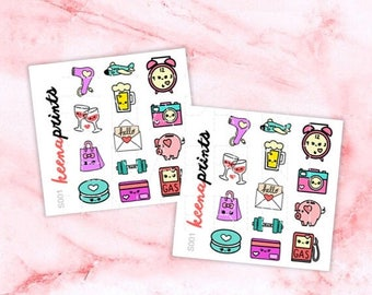 15% OFF S001 | Basics sampler Stickers Perfect for Erin Condren Life Planner, Filofax, Plum Paper & other planner or scrapbooking
