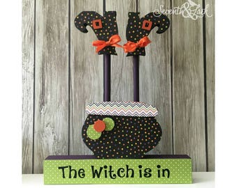 diy kit witch blocks the witch is in witch decoration craft kit