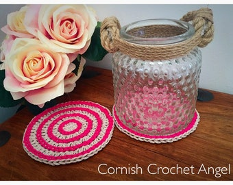 Pink Coasters - Drink Mats - Round