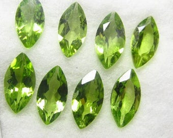 3x6mm peridot marquise 25 pic. Lot of Natural Green Peridot mrquise cut Faceted loose gemstone for jewelry