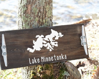 Lake Home Decor, Custom Lake Serving Tray, Lake Minnetonka, Custom Lake Decor, Lake Home Decor, Lake Minnetonka Decor, Christmas Gift Ideas