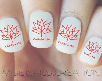 Canada 150 Nail Decal