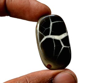 Septarian 40.5 Cts Natural  Top Quality Gemstone Cabochon Rectangle Shape 34x19x5 MM R14198