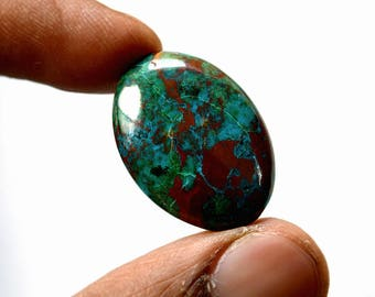 Chrysocolla 20.5 Cts AAA Quality Natural Gemstone Attractive Designer Oval Shape Cabochon 26x18x5 MM R14383