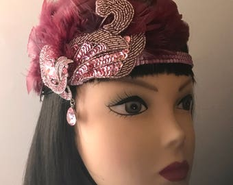 1920s headband/Gatsby headband/flapper headband/Sequins headband/Rhinestone headband/hair accessories/hair jewelry/Amar