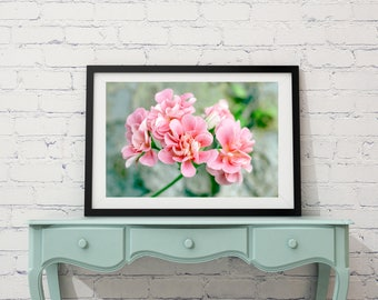 Pink Flower Art Photography Digital Download Nature Macro Floral Photography Wall Nursery Decor Print Floral Print Botanical Print