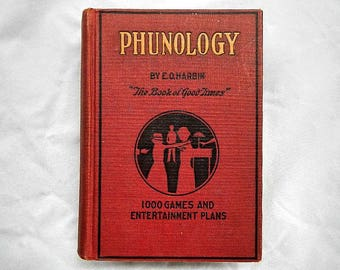Phunology by E. O. Harbin The Book of Good Times Vintage 1923 Hardcover Book