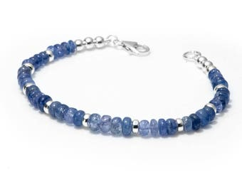 Tanzanite Bracelet | December Birthstone Jewellery | Tanzanite Jewelry |  925 Silver Gemstone Bracelet | Gift for Her | Gifts Under 50