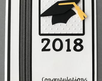 Handmade 2018 Graduation Card, 2018, Grad, High School, College