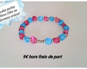 'Pebbles' spun Lampwork beaded bracelet