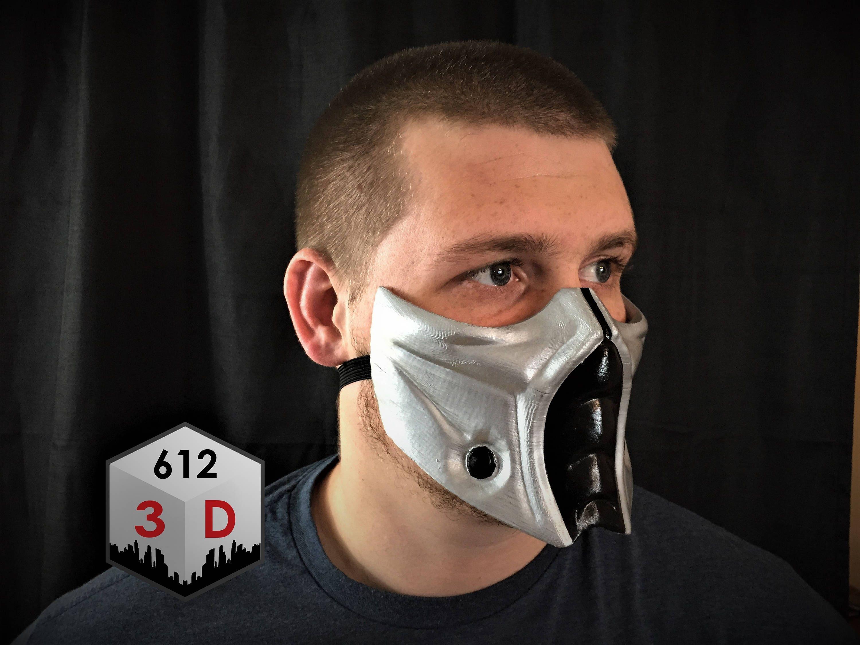 mortal kombat inspired smoke mask cosplay airsoft mask halloween costume sub zero - Mortal Kombat Smoke Halloween Costume