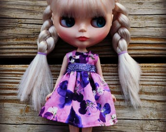 Purple Pansy Blythe Dress