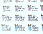 Clean Make-Up Brushes - set of 60 stickers perfect for Erin Condren Life Planner, Happy Planner, Kikki K or Filofax Planner