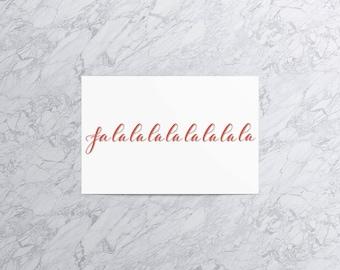 Falalalalalalalala (Version 2) | Christmas Card and Envelope