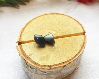 Black Obsidian Stud Earrings on Sterling Silver Posts >> Natural Oregon Stone >> Bohemian Gemstone Jewelry >> Minimalist Earrings >> Gift