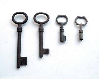 Set of 4 Russian Antique skeleton key