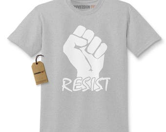 Resist Raised Fist Protest Kids T-shirt