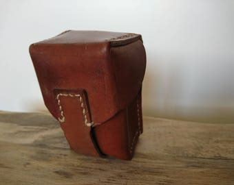 Leather ammo pouch, SKS rifle ammo pouch, Yugoslavian ammo pouch, leather belt
