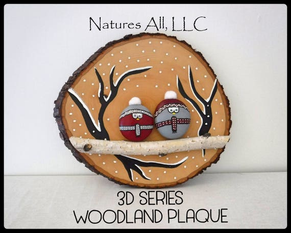 Rustic Home Decor/Woodland Plaque/Winter/3D Series/Decorative Wood Plaque/Rustic Gift Ideas