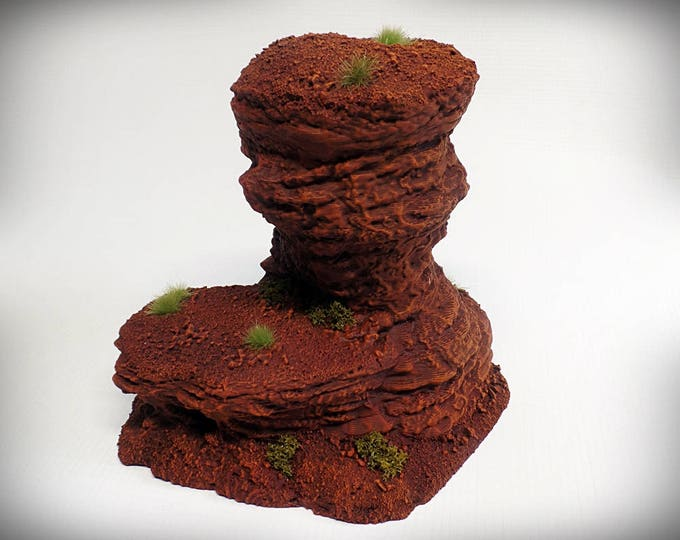 Single Spire D – UNPAINTED kit - Miniature Wargaming & RPG rock formation terrain