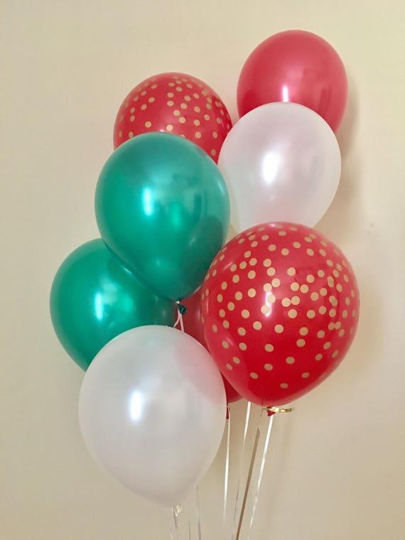Red Green Gold Confetti Look Latex BalloonBirthdayBaby Shower
