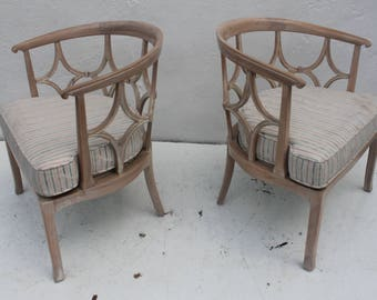Dorothy Draper   Style Hollywood Regency  Chairs A Pair.