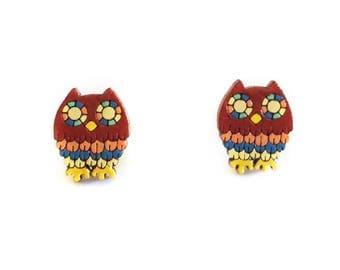 """Earrings """"OWL"""" - Mexican inspired jewelry"""