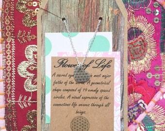 Flower of Life Heart Pendant