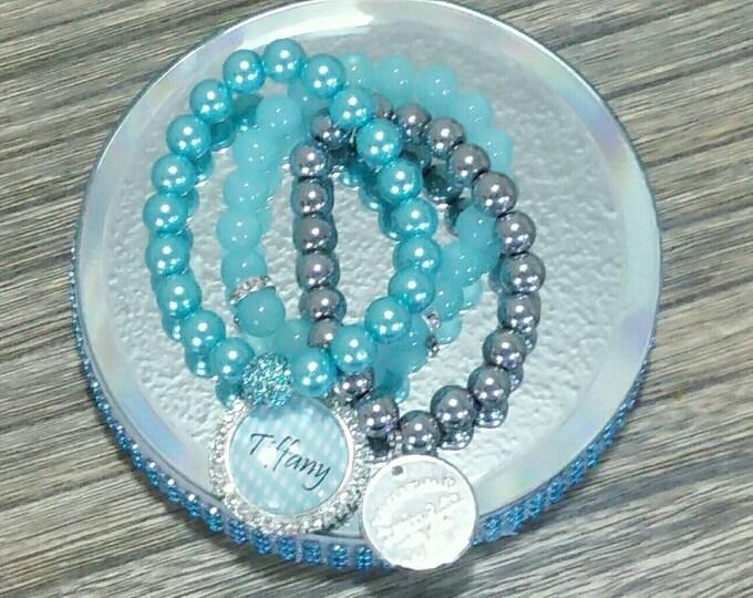 Designer Inspired Blue Charm Set