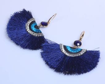 Fan Tassel Earrings,Tassel Fan Earrings,Boho Tassel Earrings,Tassel Dangle Earrings For Women Unique Gift For Mom Daughter Tassel Earrings