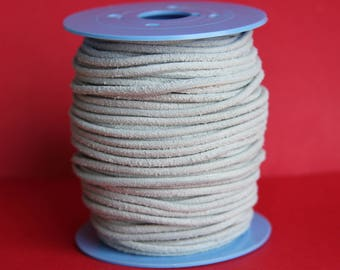 MADE in EUROPE 2 yards of suede cord, 3mm round suede cord (3crobla)