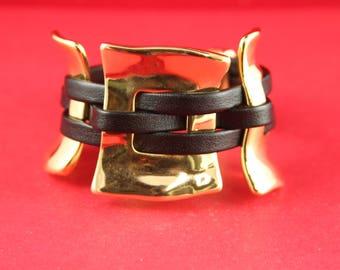 10/5 MADE in EUROPE shiny zamak 3 piece set, Uno de 50 style bracelet set, gold zamak findings (43/38/39/40G)