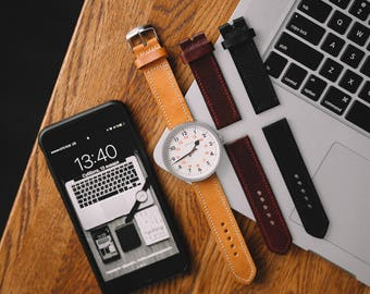 Leather watch strap, watch band, apple watch band, full grain, leather strap, leather band