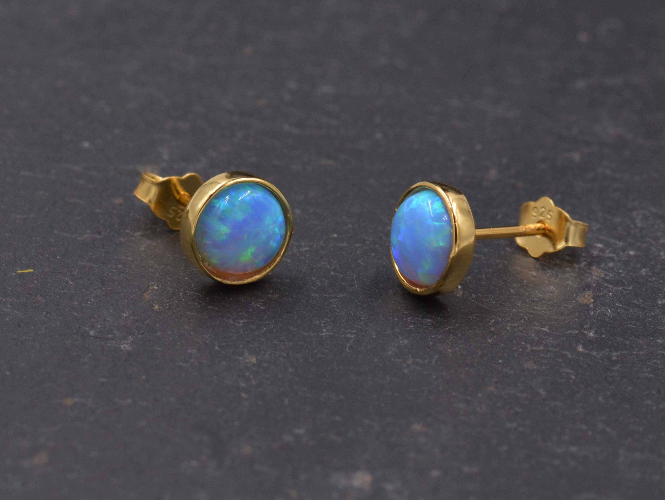 stud of opal purple earrings and green druzy blue product peacock