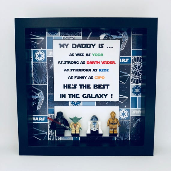 Star Wars Minifigure Frame, Mum, Gift, Geek, Box, Personalised, Dad, Idea, Birthday, Anniversary, For Him, Comic, Fathers Day,