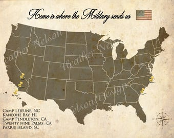 Home is where the Military sends us DIGITAL Print