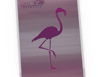 Flamingo stencil etsy craftstar flamingo stencil reusable craft airbrush diy home decor template a5 pronofoot35fo Images
