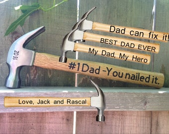 Sale, Father's Day Gift, Hammer, #1 Dad, You nailed it, Gift for dad, Father's Day, Tools, Garage