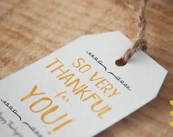 So Thankful for you - Thanksgiving Tag