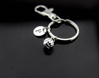 Volleyball Coaches Gifts, Volleyball Team Gifts, Volleyball Keychain, Volleyball Mom, Sport Gifts, Personalized Keychain, Initial Charm